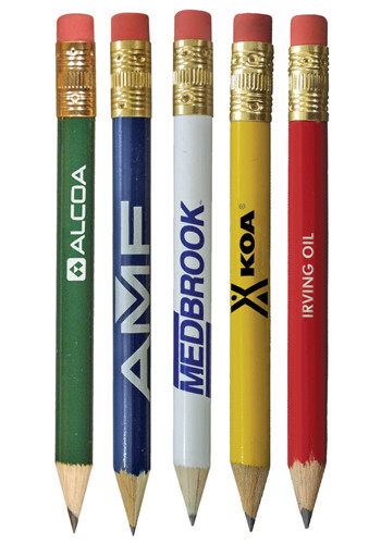 Round Golf Pencils with Eraser