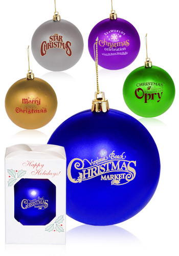 Round Plastic Holiday Ornaments - Personalized Round Plastic Holiday Ornaments OR2 - DiscountMugs