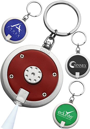 Wholesale Round LED Keychains