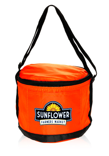 Round Styrofoam Cooler ~ Round polyester cooler lunch bags alun