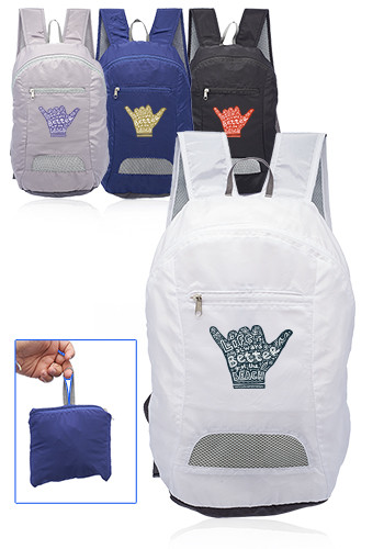 Customized Running Mate Collapsible Silk Soft Backpacks