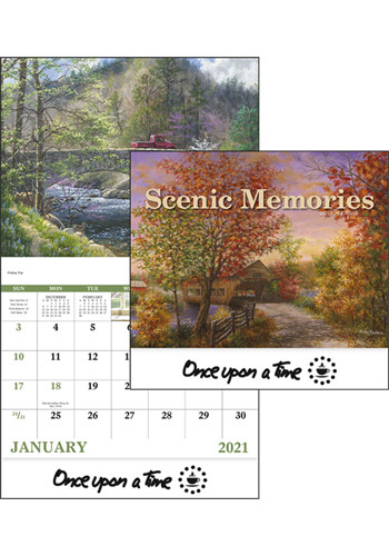 Personalized Scenic Memories Stapled Triumph Calendars
