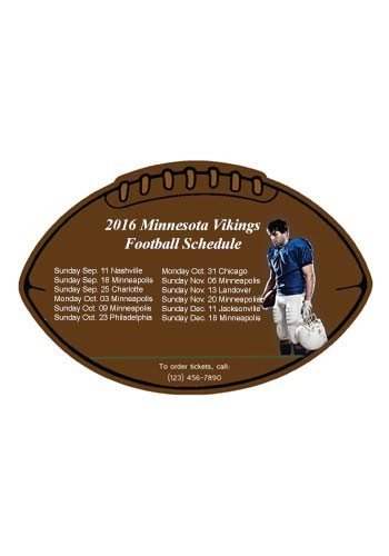 Personalized Schedule Football 6.38in x 4.25in Magnets