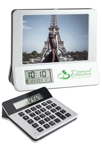 3-in-1 Calculator/ Picture Frame/ LCD Digital Clocks | SDPF104