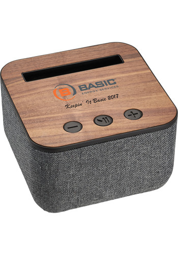 Shae Fabric and Wood Bluetooth Speakers | LE719812