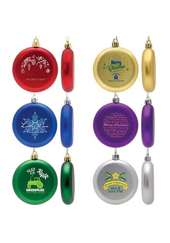 Promotional Flat Round Ornaments