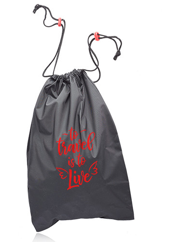 Customized Travel Pack Drawstring Laundry Bags