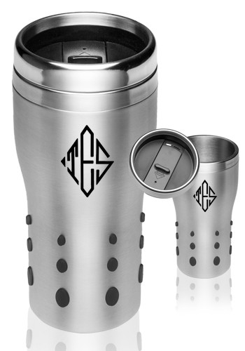 Silicone Dotted Grip Travel Mugs