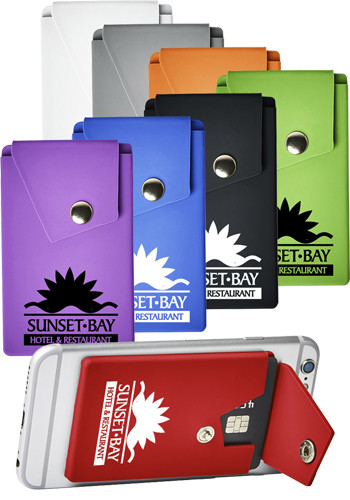 Personalized Silicone Phone Pocket Wallets With Stand