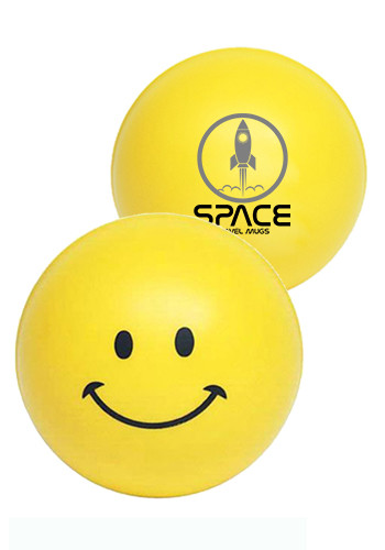 Customized Smiley Face Stress Balls
