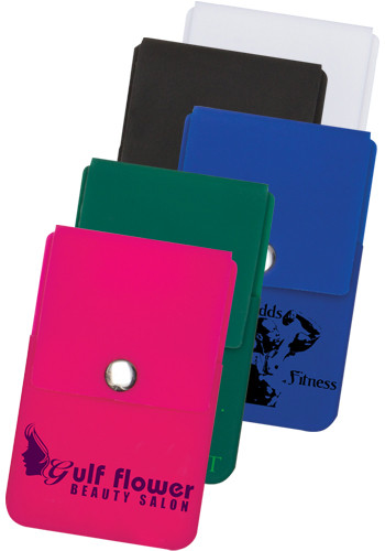 Personalized Snap Close Cell Phone Card Holders