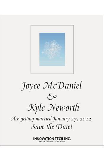 Personalized Snowflake Save the Date Magnets