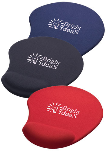 Solid Jersey Gel Mouse Pads with Wrist Rest | SM3310