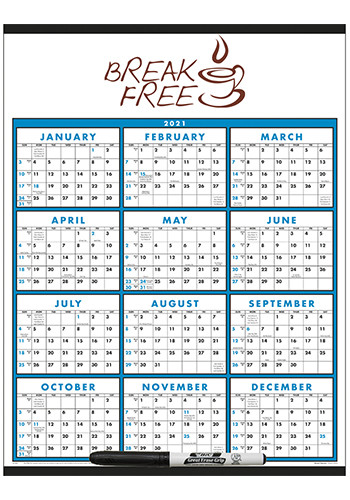 Span-A-Year (Laminated with Marker) Triumph Calendars | X11367