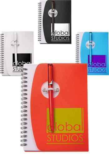 Spiral Notebooks with Elastic Pen Holder   SM3461