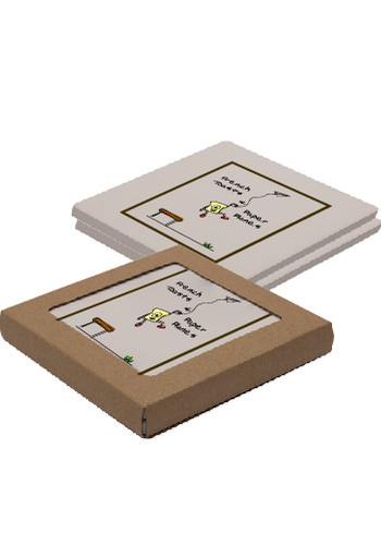 Customized Square Absorbent Stone Duo Coasters