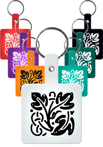 Square Flexible Key Tags