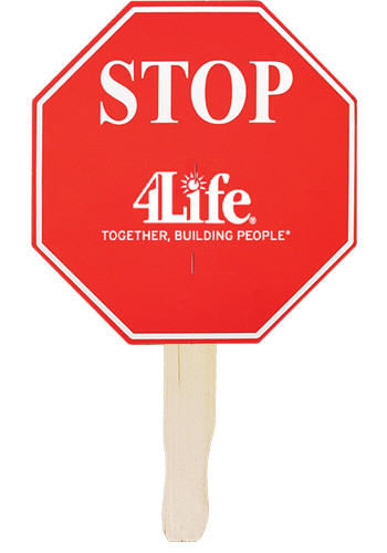 Stop Sign Shaped Hand Fans | AK33014
