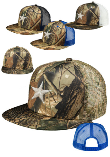 Camo Structured Twill Mesh Trucker Hats | CAP82