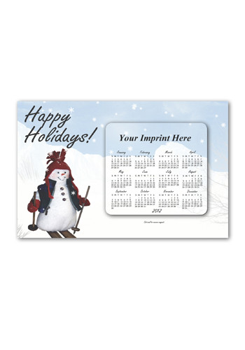 SuperSeal Greeting Card w/ Magnetic Calendar F Magnets