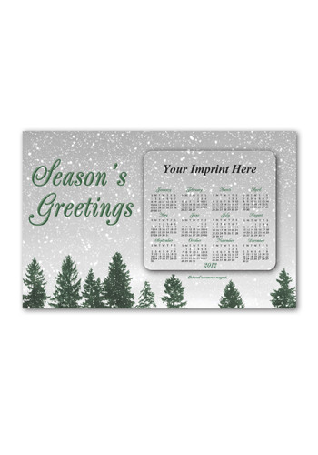 SuperSeal Greeting Card w/ Magnetic Calendar H Magnets