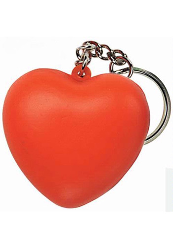 Promotional Sweet Heart Stress Ball Keyrings