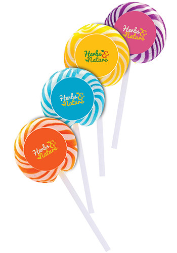 Personalized Swirl Lollipops with Round Label