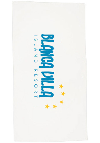 Custom Terry Velour Hemmed Beach Towels