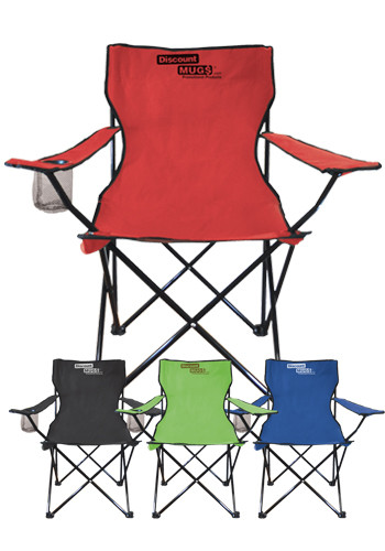 Large Folding Chairs with Drink Holder | CRBIGLNGR