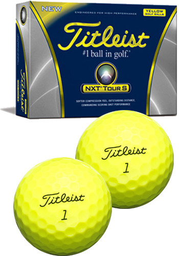 Titleist NXT Tour S- In Yellow Golf Balls | PGPT4131C