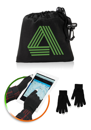Touchscreen Gloves With Pouch