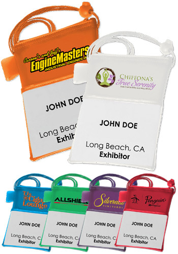 Plastic Trade Show Badgeholders