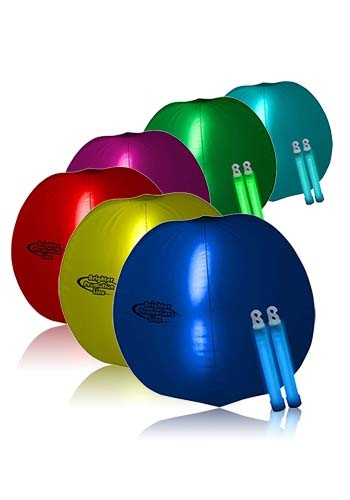 Translucent 24 in. Inflatable Beach Ball with Glow light Sticks | WCGNO11