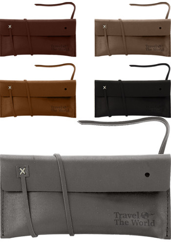 Traverse Leather Cohen Amenities Pouch | SUTCOHEN