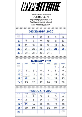 Triumph Blue & Grey Commercial Planner Calendars | X11401