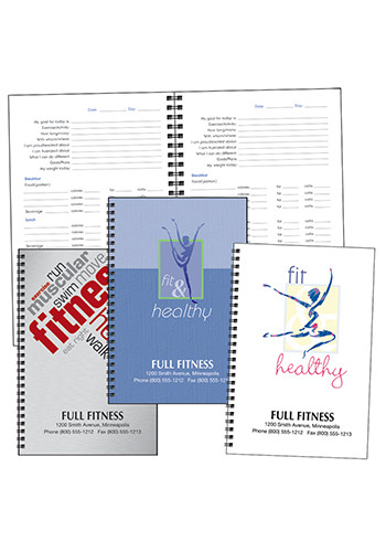Personalized Triumph Food and Fitness Journals