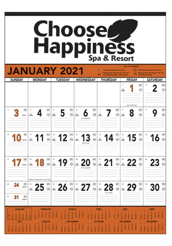 Triumph Orange & Black Contractor's Memo Calendars | X11362