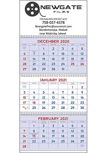 Triumph Red & Blue Commercial Planner Calendars | X11402