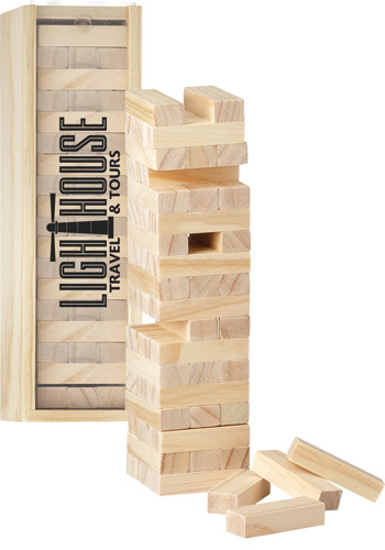 Tumbling Tower Wood Block Stacking Games | LE300235