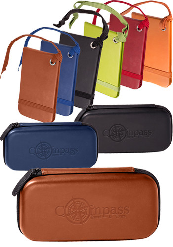 Tuscany™ Leather Luggage Tags Set in a Case |PLLG9337