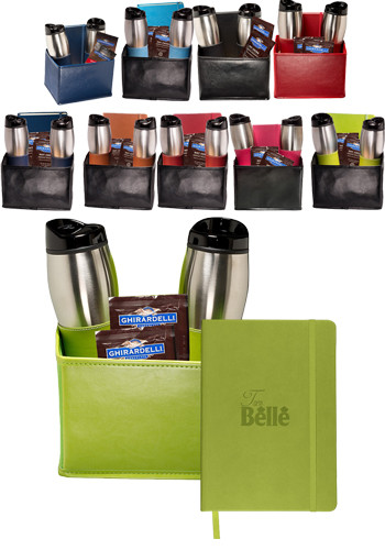 Tuscany™ Stainless Steel Tumblers & Journals, Ghirardelli Cocoa Set |PLLG9322