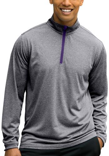 Vansport Melange Quarter Zip Tech Pullovers | VA3410