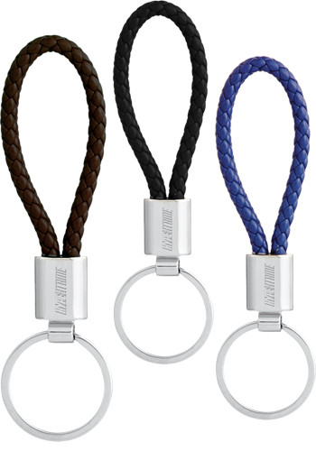 Wholesale Vegan Leather Twist Key Rings