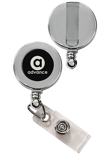 Vibraprint Silver Badge Reels with Belt Clip | SIEXPRESSSBR1S