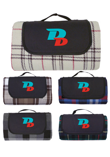 Printed Water Resistant Outdoor Plaid Blankets