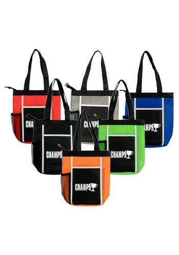 Customized Wave Zipper Lunch Totes