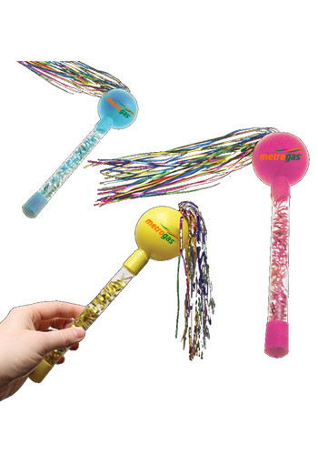 Custom Assorted Color Tinsel Maracas