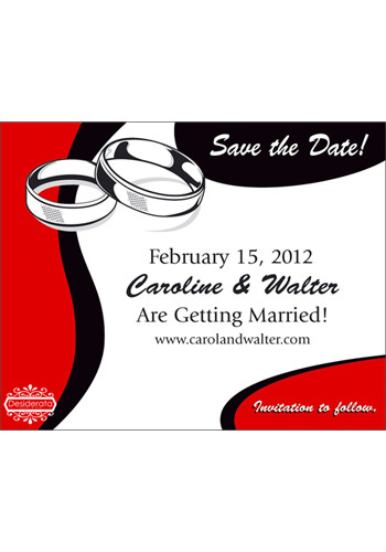 Personalized Wedding Rings Save the Date Magnets