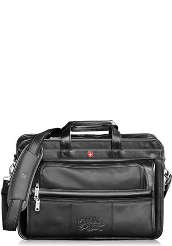 Wenger Leather Double Compartment Attache Bags | LE935056