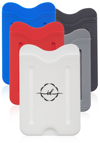 Promotional Whillock Silicone Phone Wallets with Finger Grip